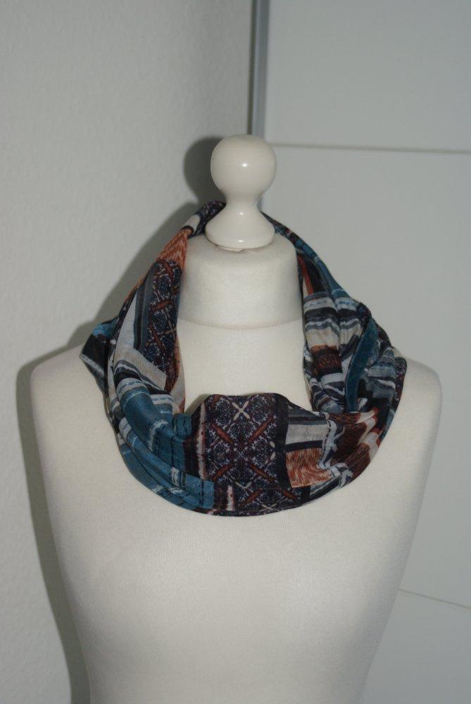 55eb4daaa2bc23 sonstige - Muster Tuch Schal Loop petrol schwarz rost :: Kleiderkorb.de