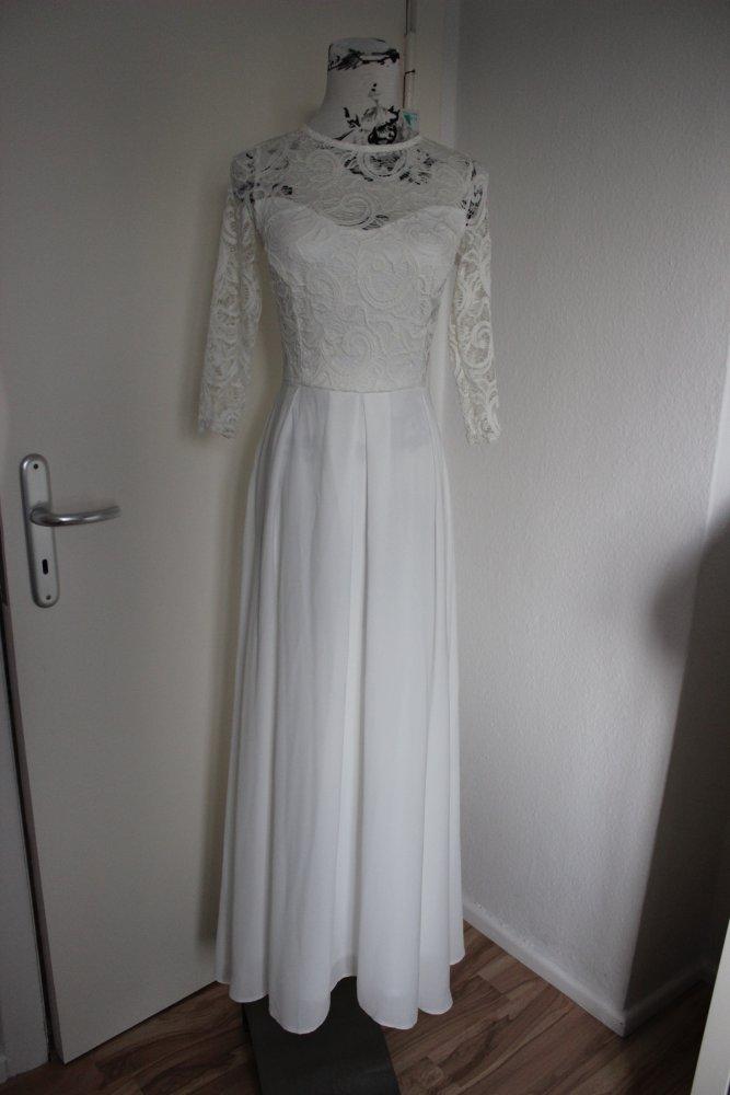 check out 48213 bc513 Abendkleid Brautkleid Standesamt Hochzeit Blogger Trend Spitze Lace