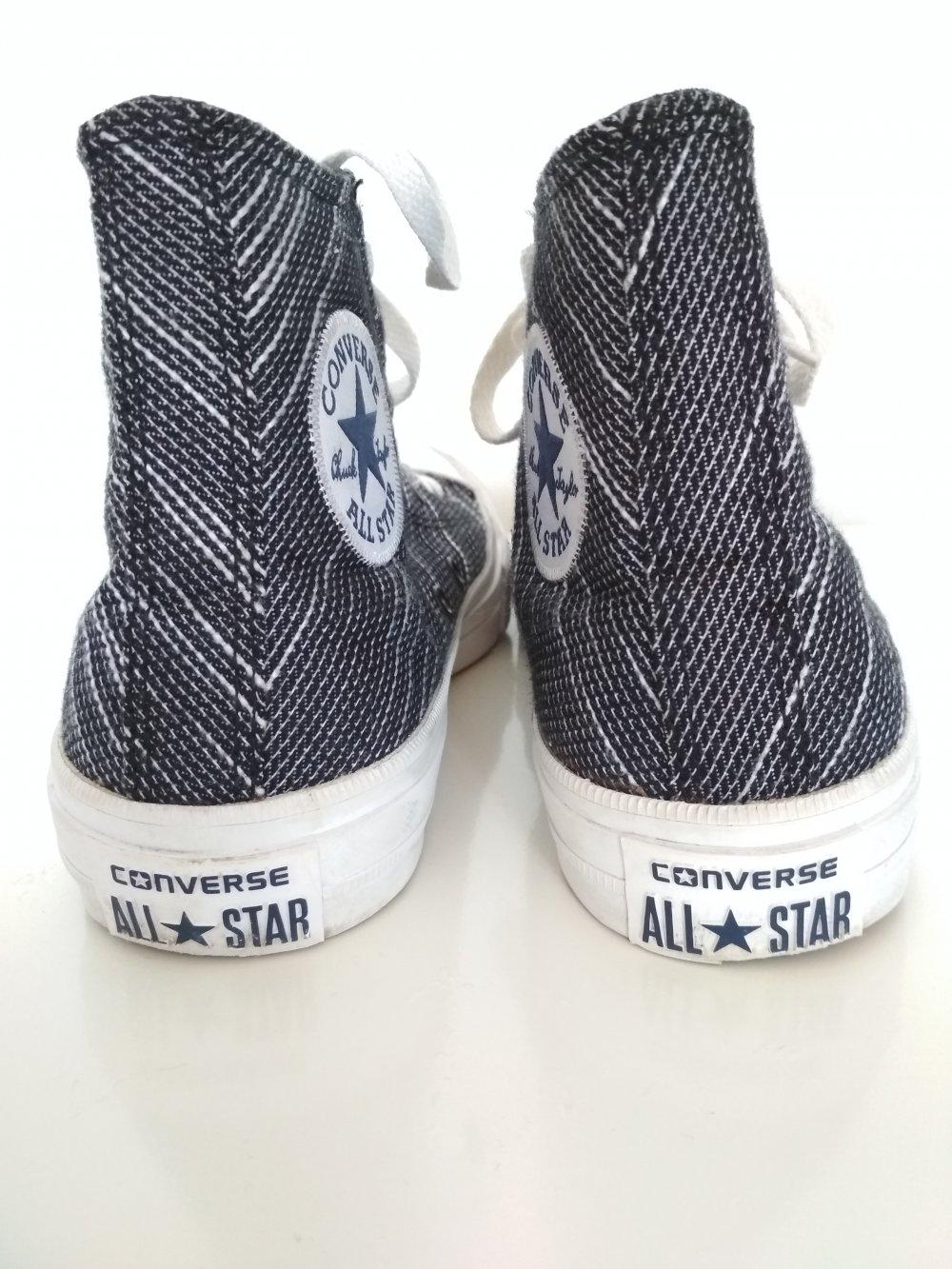 Converse Chucks Gr. 38 UK 5,5 US 7,5 Lunarlon Chuck Taylor II schwarz weiß grau gepolstert