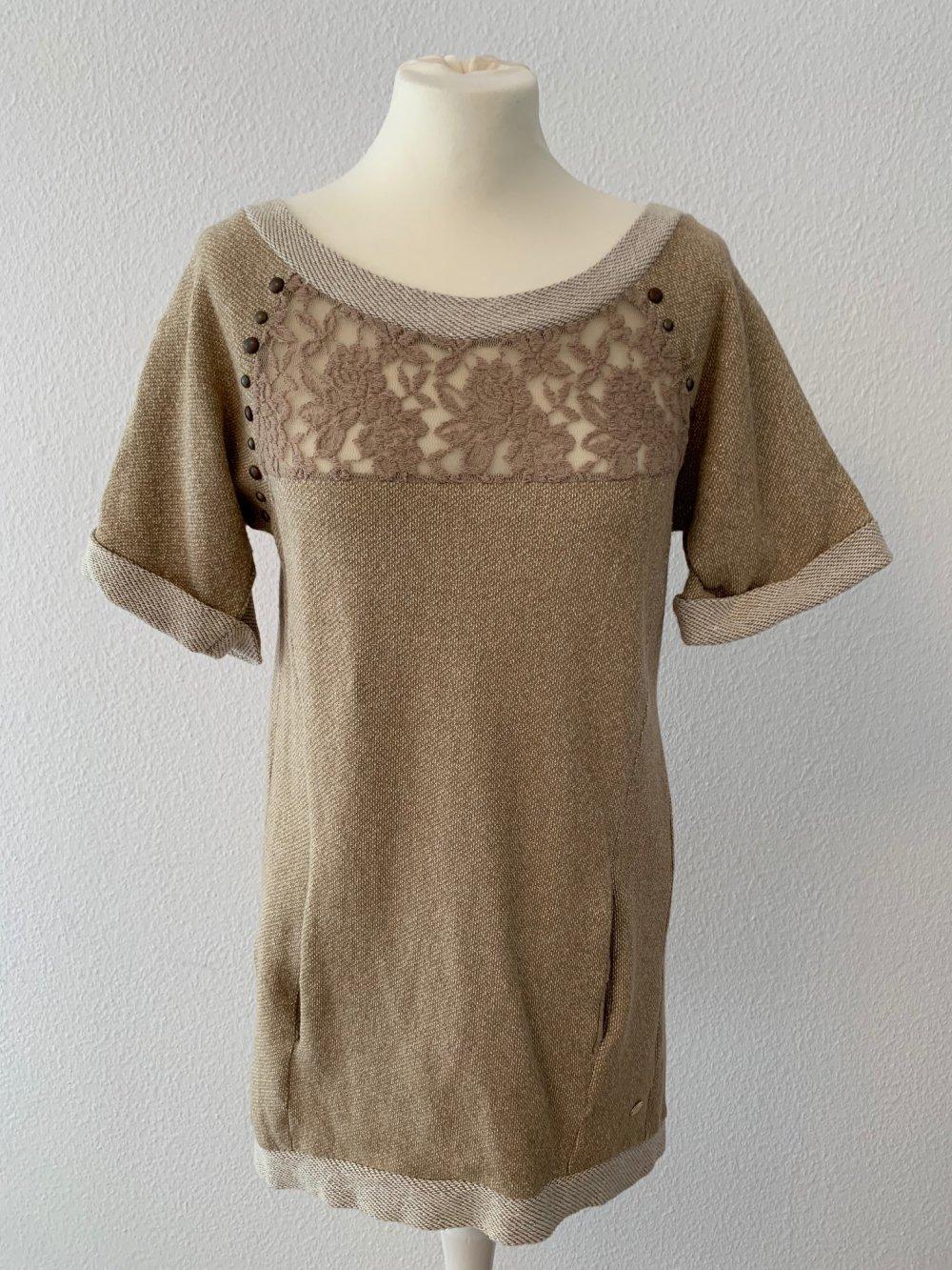 festlich sommer xxl spitze tunika bluse shirt kleid 36 38 40