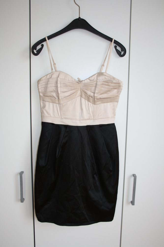 Abendkleid Partykleid schwarz weiß creme H&M :: Kleiderkorb.de