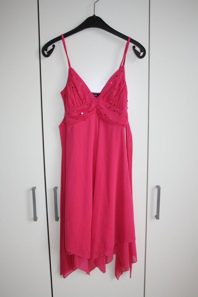 Jennifer Taylor - * Partykleid Ballkleid pink Glitzer locker fallend ...