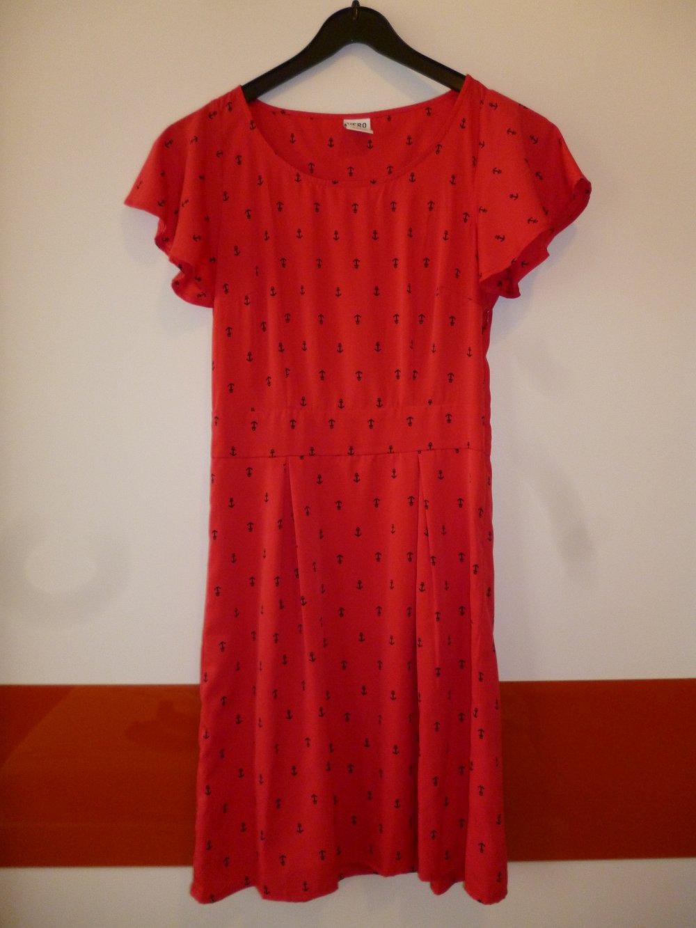 rotes kleid vero moda