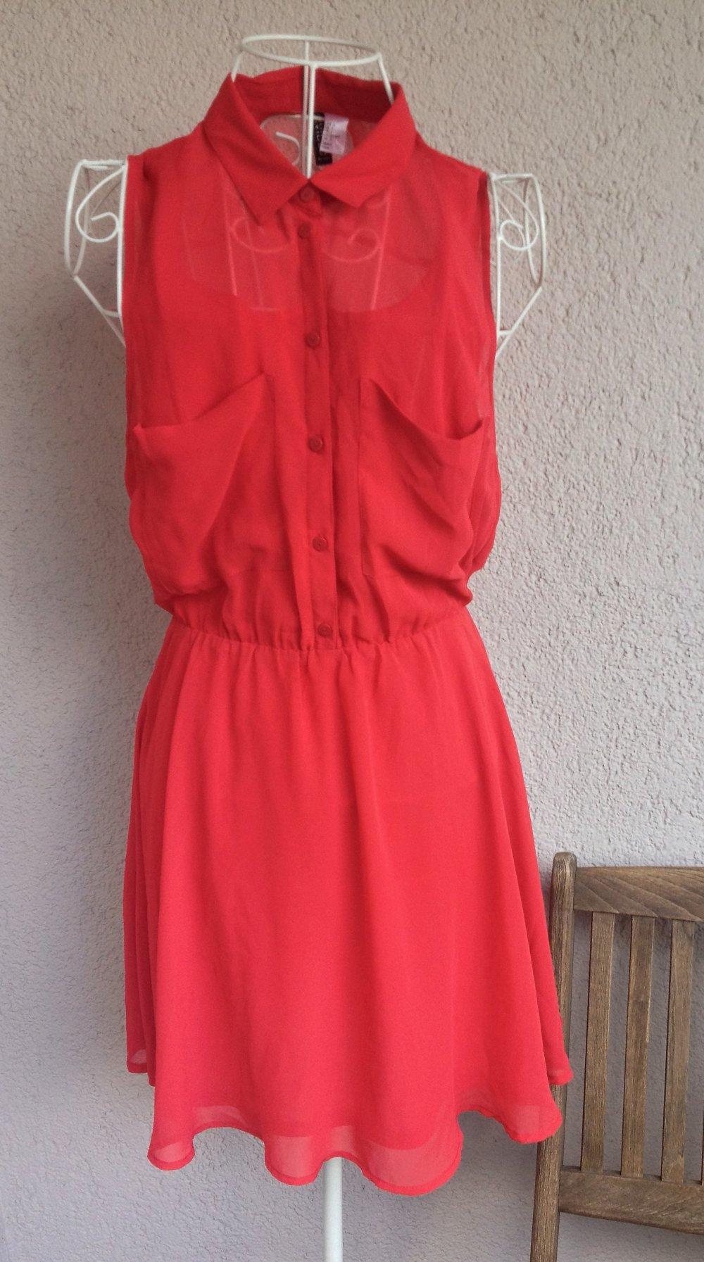 Wunderschönes rotes Kleid ohne Ärmel von H&M