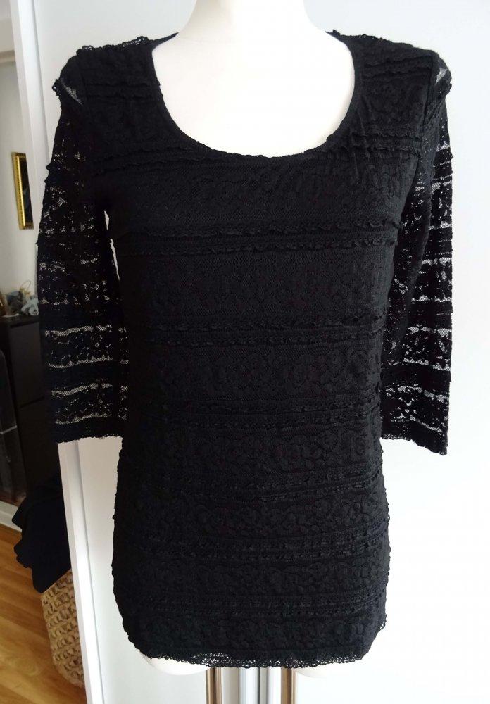 16c5d0711182bb Yest - schwarzes Shirt mit Spitze    Kleiderkorb.de