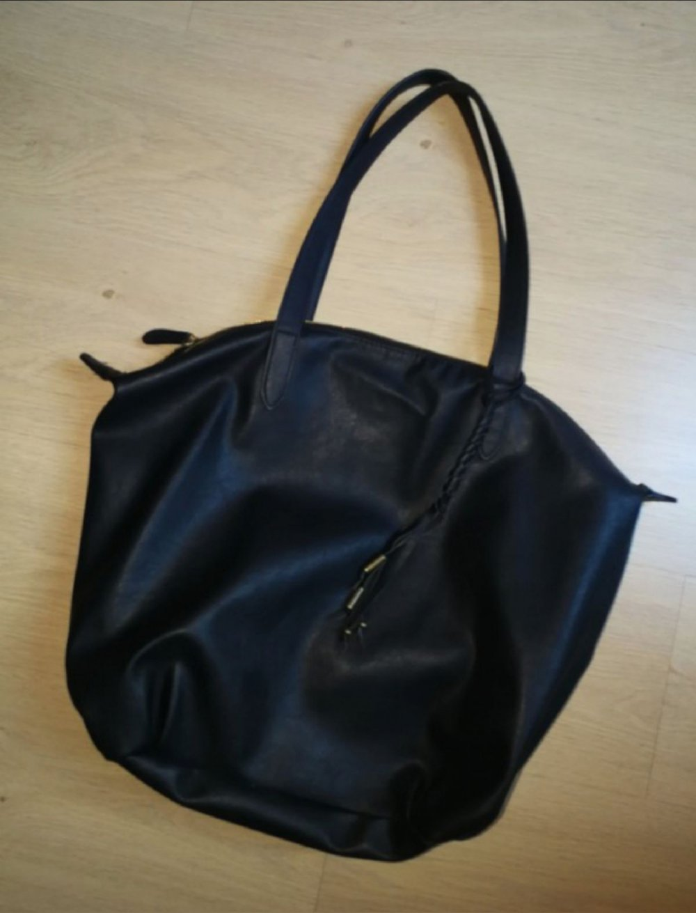 27fdf68db71c0 Schwarze Shopper Bag Tasche    Kleiderkorb.de