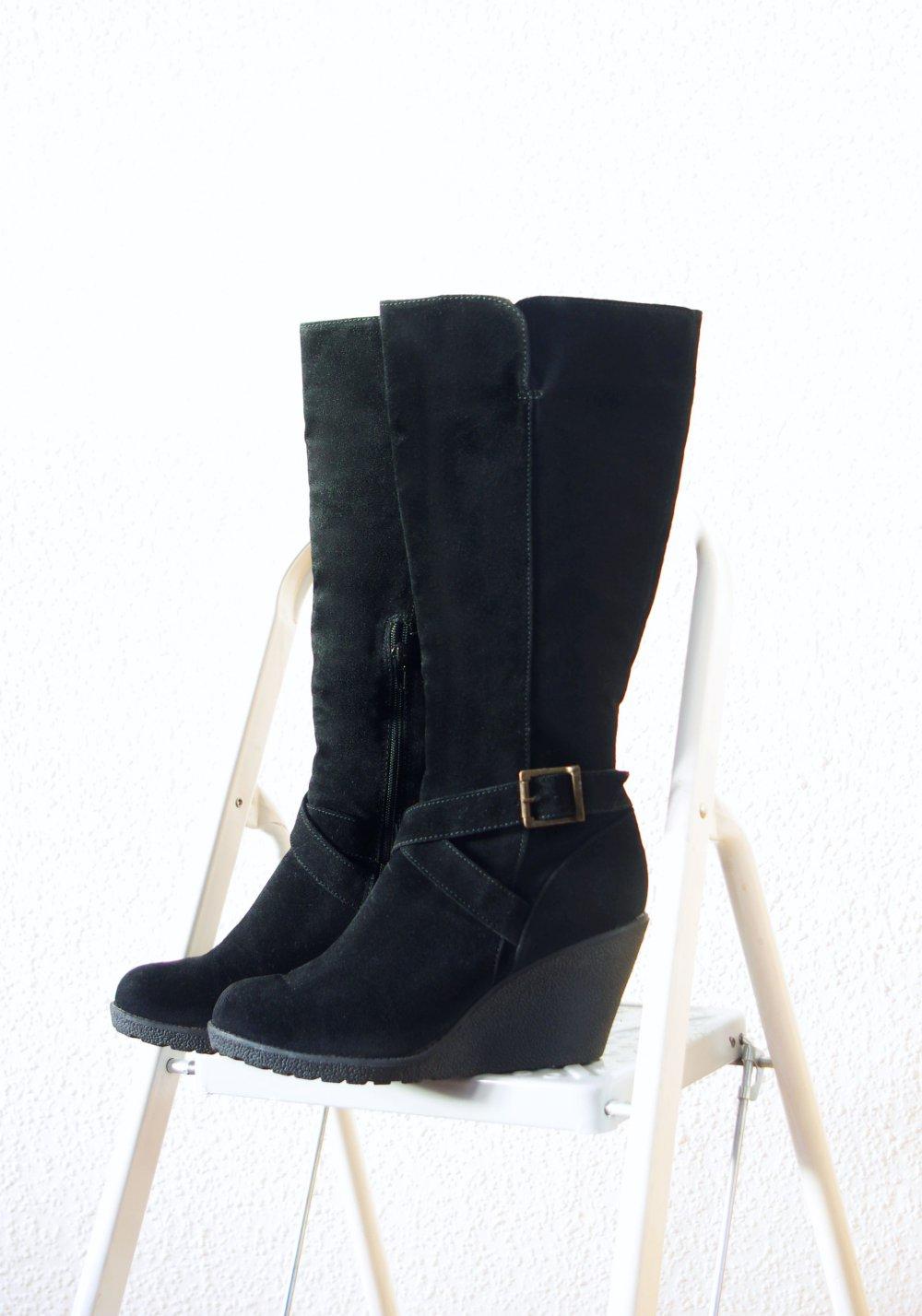 Gr42 Schnallen Gothic 41 Wedge Boots 5 Plateau Stiefel