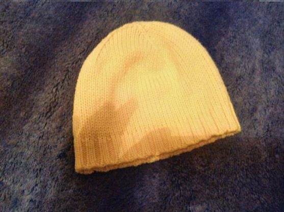 037e7749b5f9 Damen Mädchen Jungen einfache Strick Mütze Honig-Gelb heller orangener Ton  22 cm .