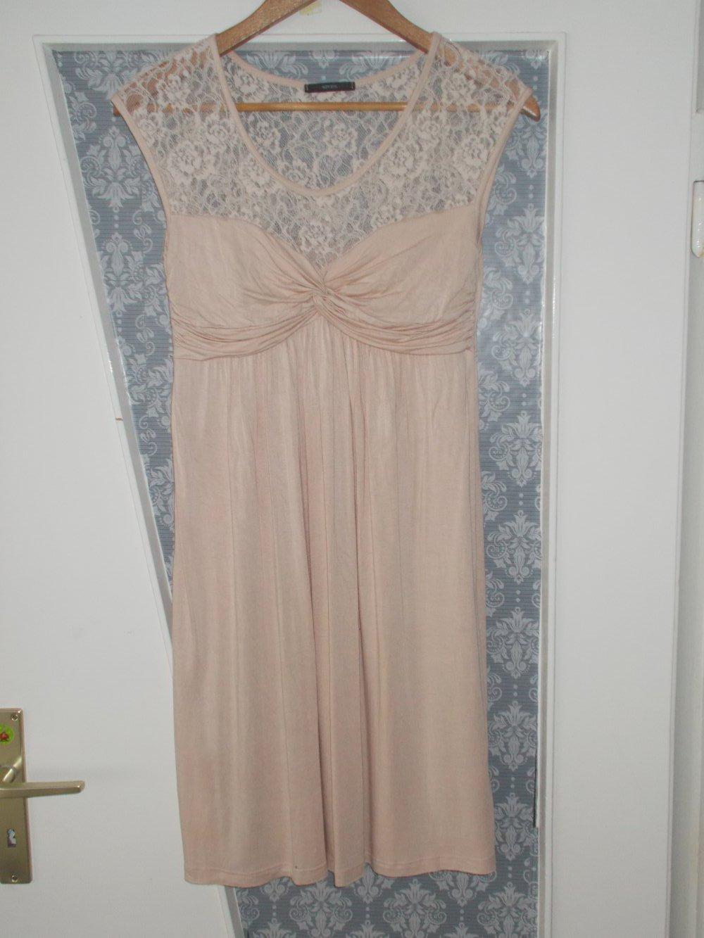Soprano - Leichtes zartrosa Kleid S mit Spitze, Festliches Kleid ...