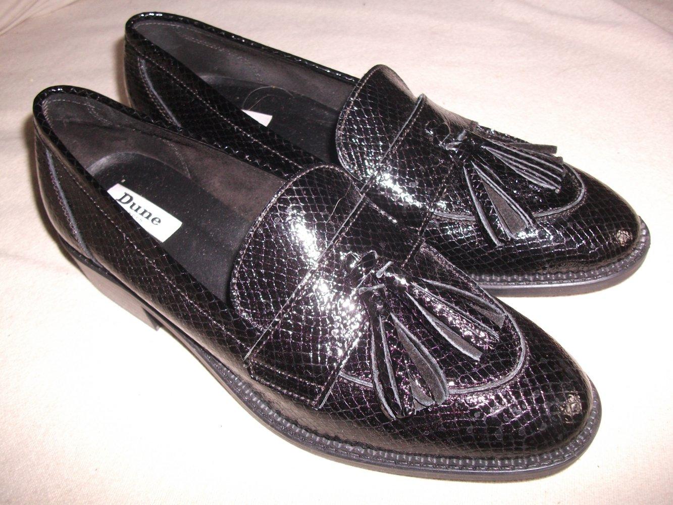 Von Dune Gr41 College Schuhe Slipper LederSchwarzLeicht Loafer A3Rq54Lj