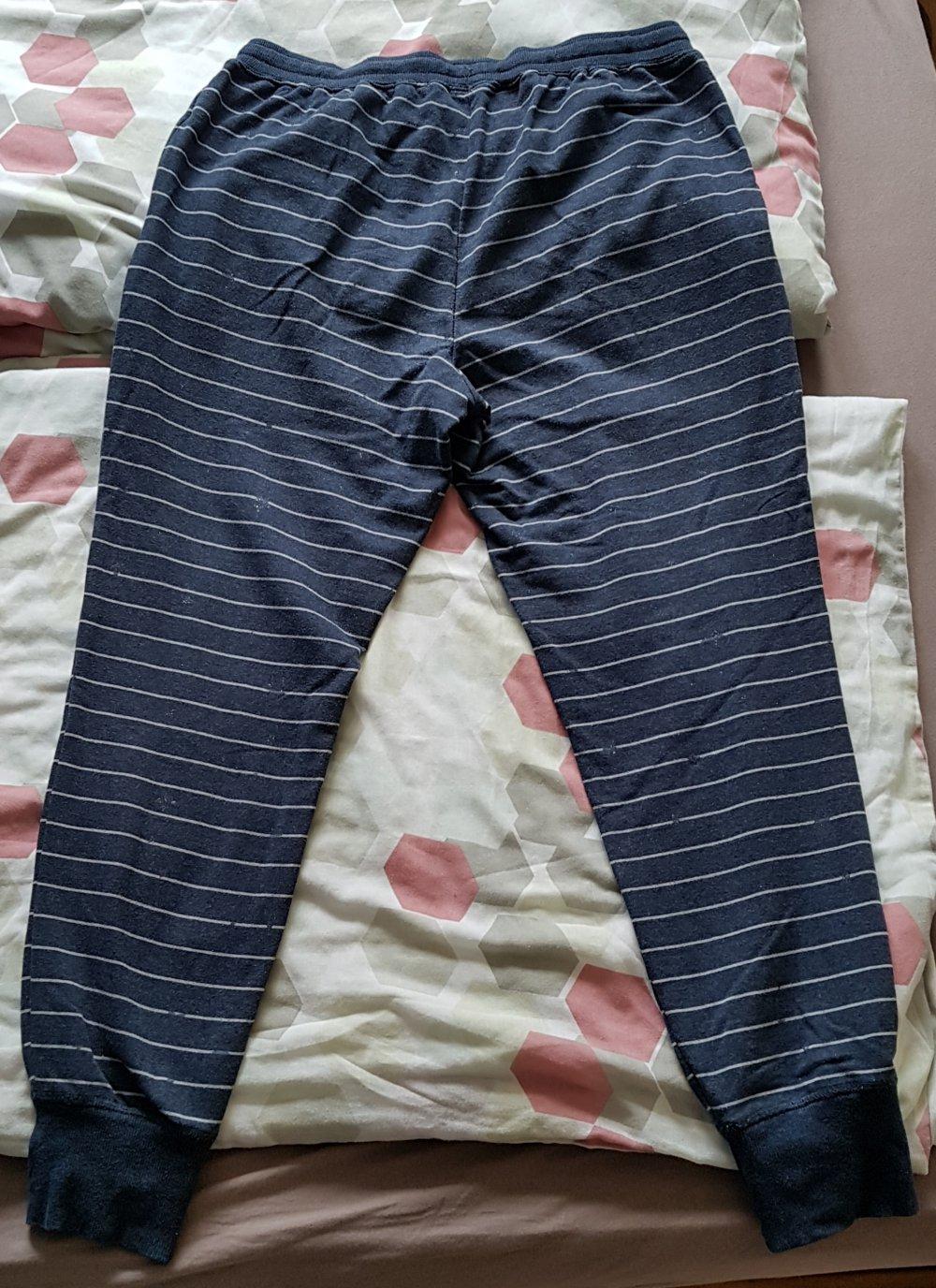 ganz nett Herbst Schuhe beliebt kaufen Jogginghose Sweatpants Damen dunkelblau Streifen Tchibo