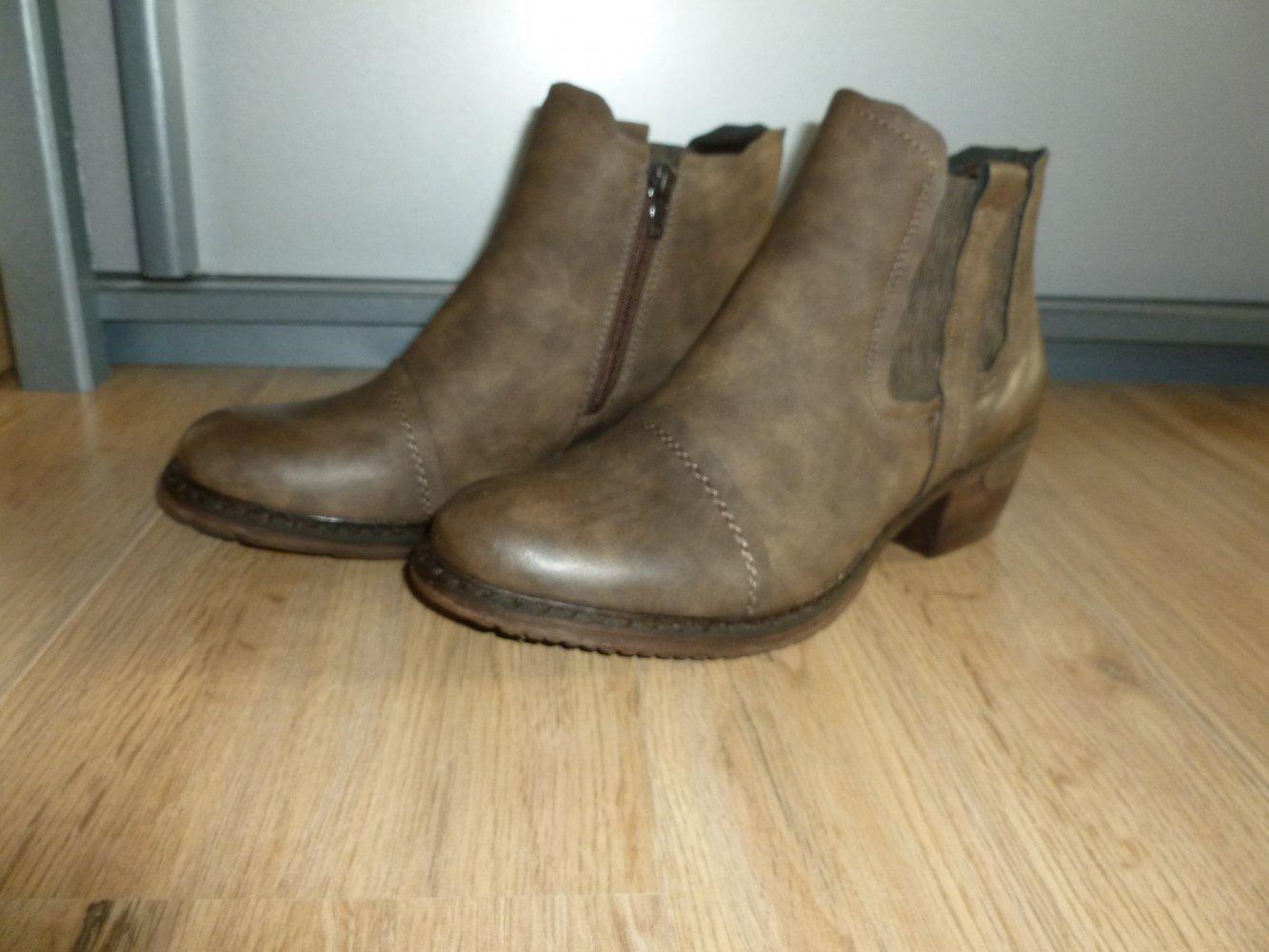 Rieker Stiefeletten Schuhe braun gefüttert Neu    Kleiderkorb.de 323b1fb0c5