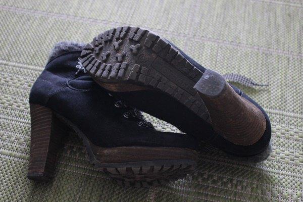 promo code 7e2dc 30481 High Heels/ Hohe Schuhe/ Tamaris/ schwarz/ blau-weiß kariert/ Edelweiß/  Dirndl