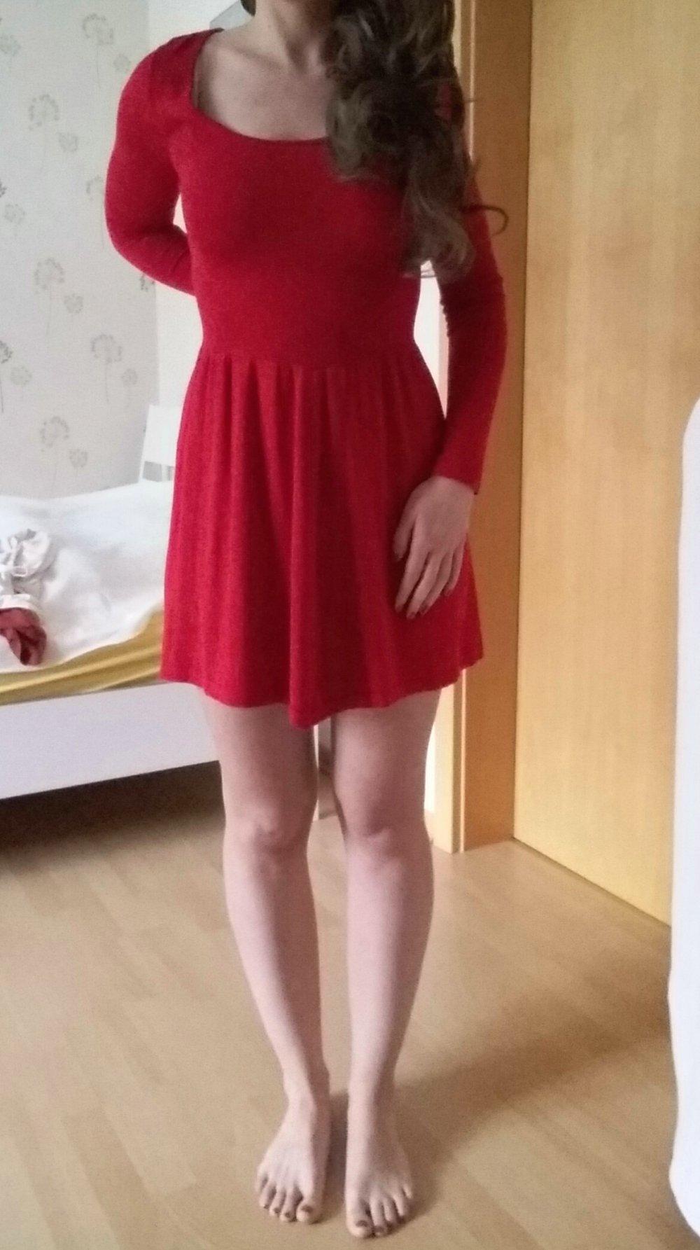 Rotes Kleid /Strickkleid :: Kleiderkorb.de