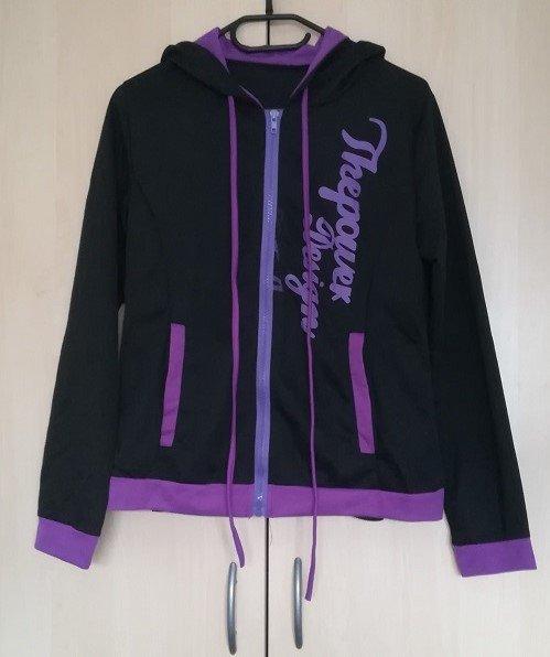 sportliche Jacke mit Reißverschluss in Schwarz und Violett