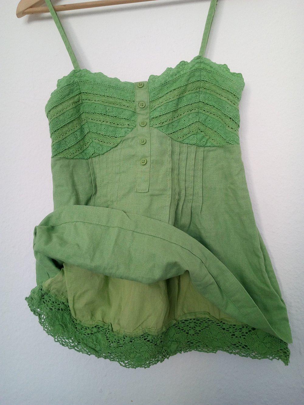 Tunika Shirt Top Kleid Italy Bluse Hängerchen Lang Baumwolle Punkte Weiß 46 48