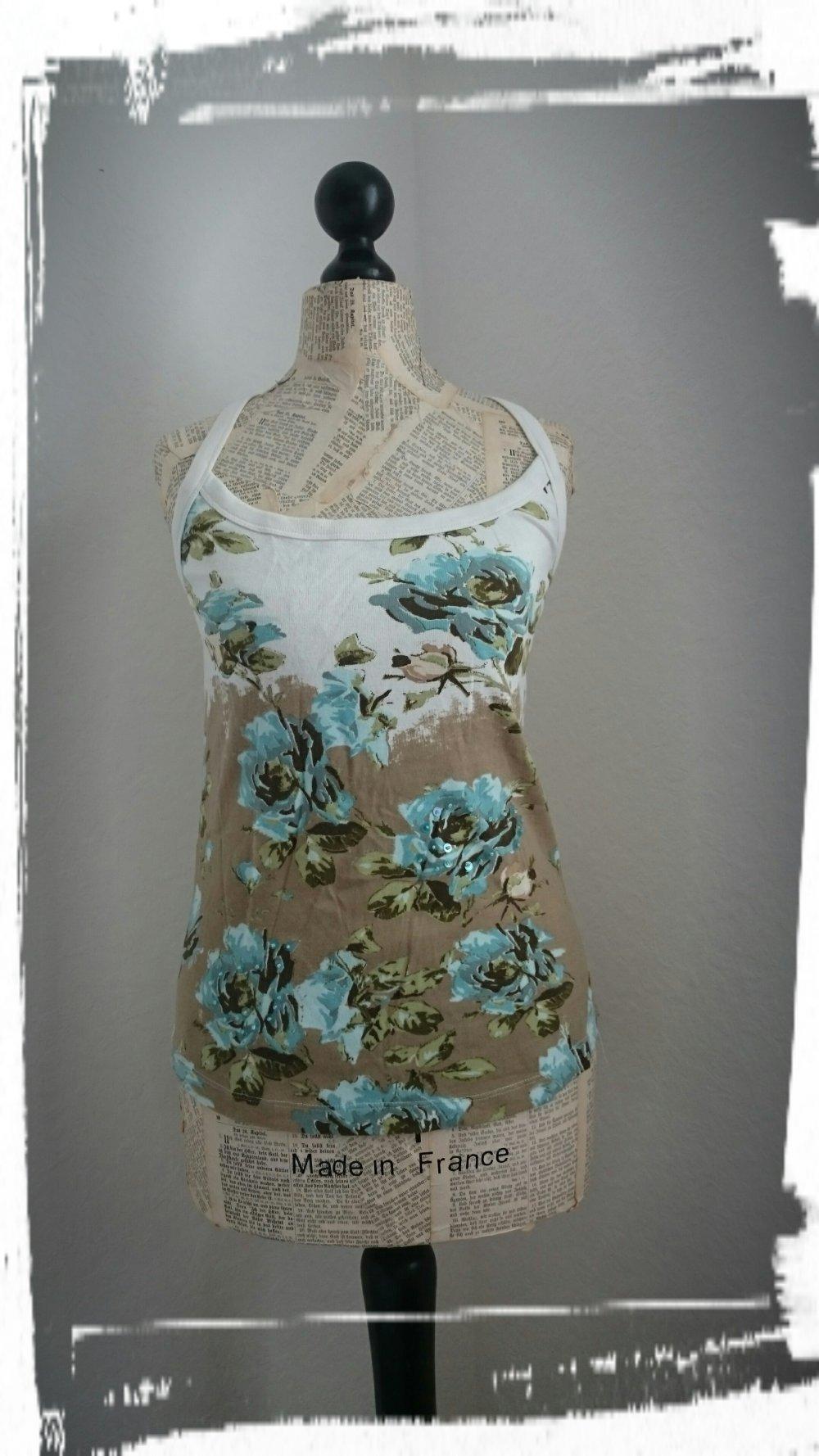 neu! mode vero moda blumen-top , größe xl, np 29,95 euro