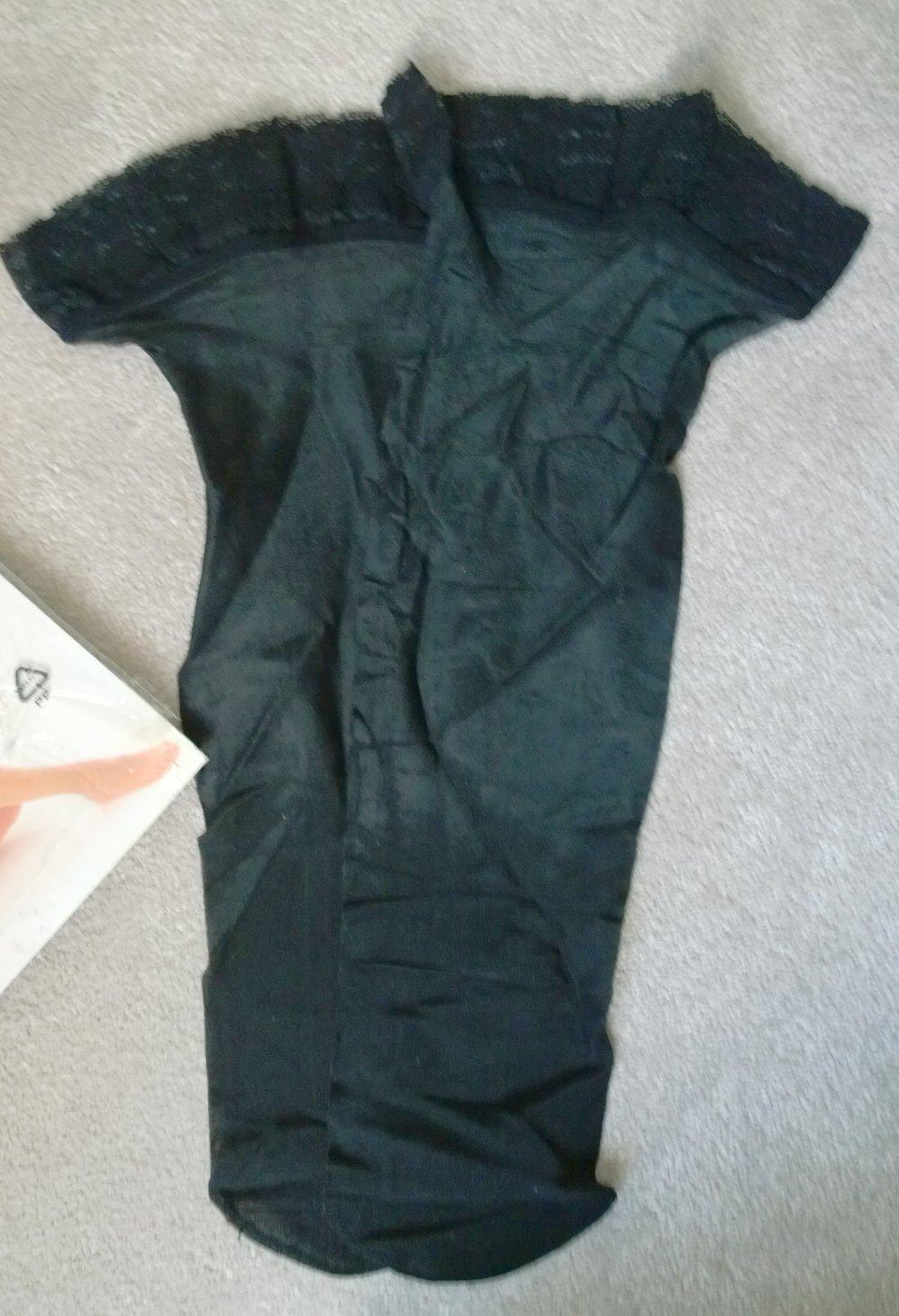 online zu verkaufen Entdecken Sie die neuesten Trends überlegene Materialien Halterlose Strümpfe schwarz Gr.M H&M
