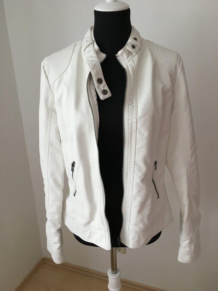 3e4ab89e37a5a3 pimkie - Lederimitat Jacke, weiß, Größe 40 :: Kleiderkorb.de