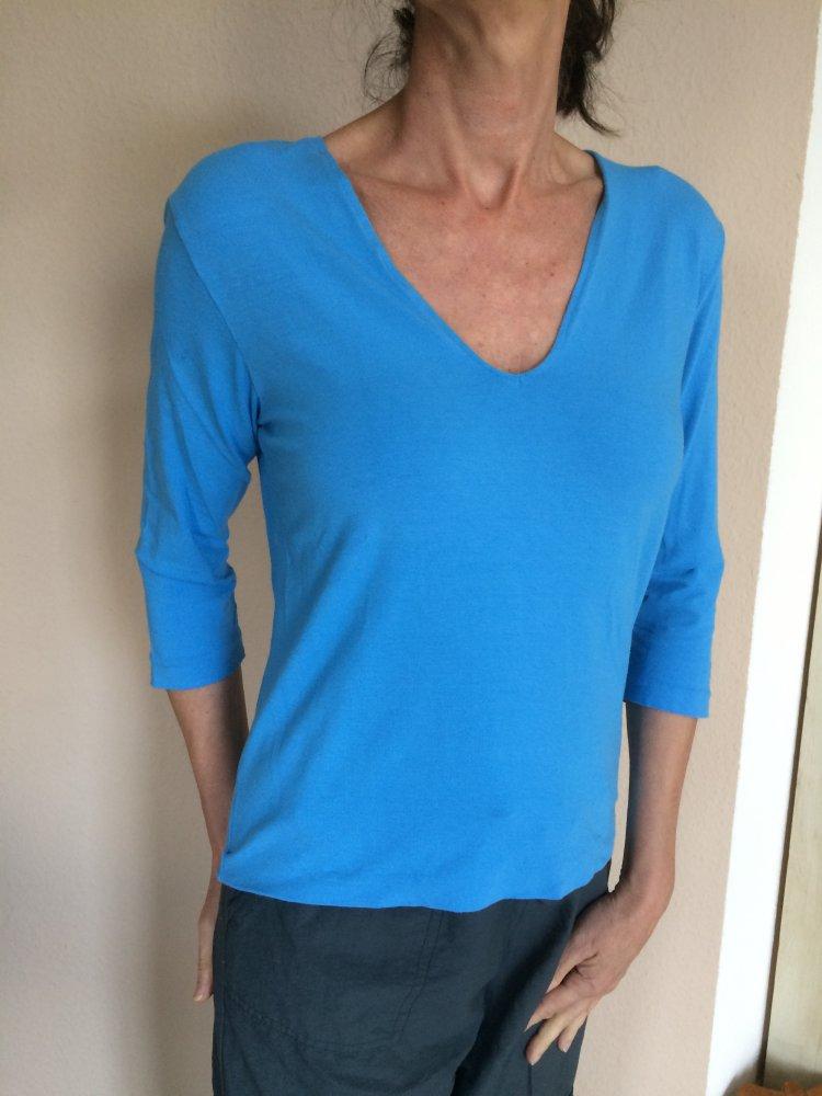 872e8b449790 DKNY 3 4 Arm T.Shirt Gr.40 L Farbe hellblau    Kleiderkorb.de