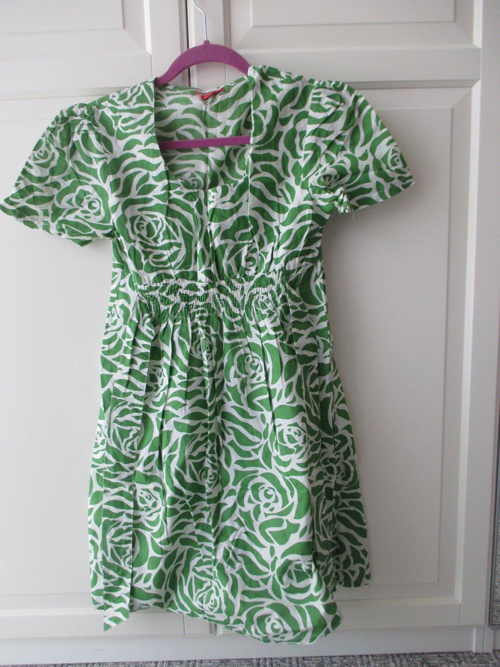 Sommerkleid grun weiss