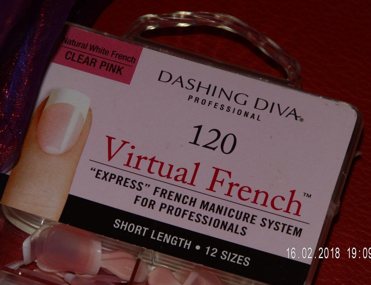 Dashing Diva 120 Virtual French Nails 100Stk. Natural White French ...