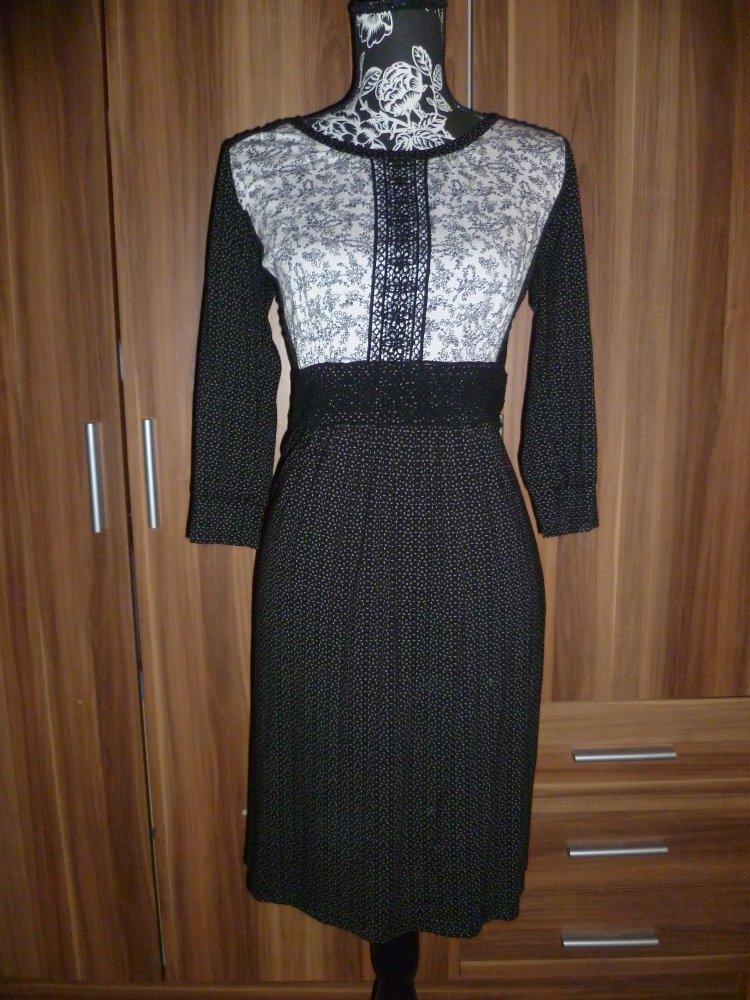 Kleid Vive Maria Schwarz Weiss Kleiderkorb De