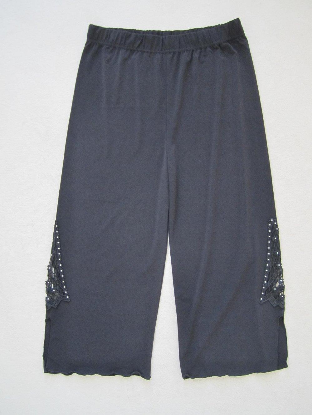 ... Vercotti Boutique 7 8 Hose schwarz elegant Gr.S 38 40 Straß Spitze . c8dde92b66