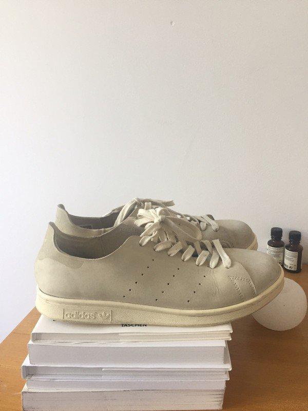 Cremefarbene Sneaker Nubuk Leder Aus Stan Smith Adidas Originals Qtrdsh