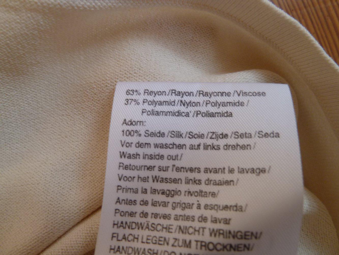 buy popular 459a7 a961f Shirt Betty Barclay Häkel Applikation 40 42 M Blüten Blumen Strass Perlen  Creme