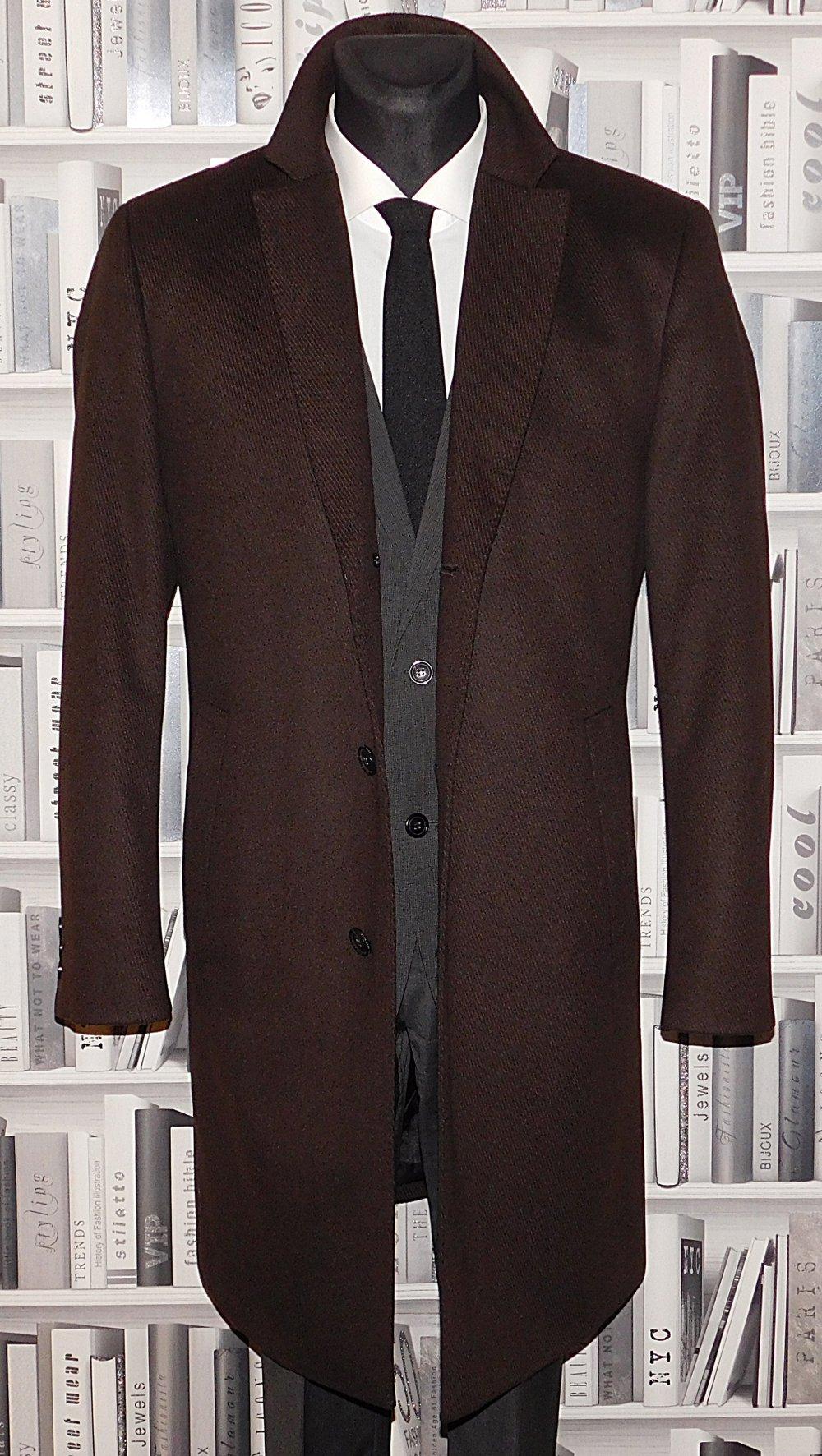 Kleidung & Accessoires Clever @@@ Hugo Boss Herren Kurzmantel Jacke Größe 58 Cashmere Wolle Top @@@ SchöN In Farbe