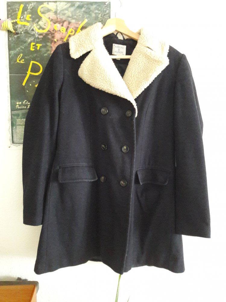Teddyfell mantel blau