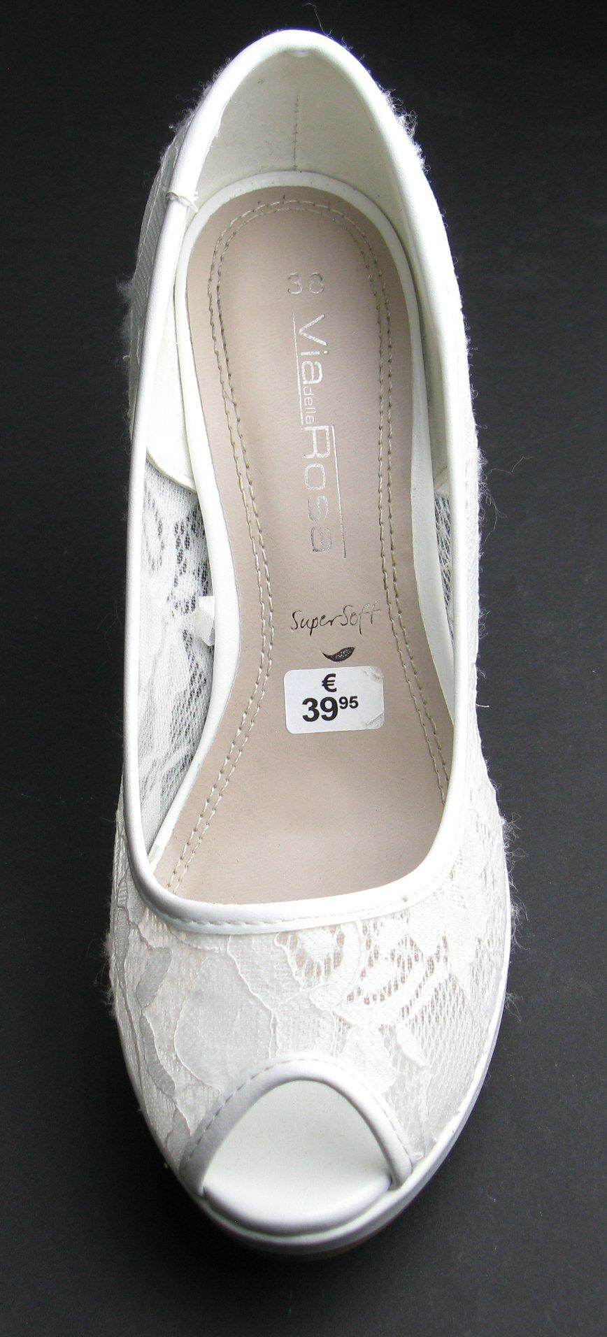 Damen Schuhe Sommer Pumps Gr.38 in Woll Weiß von Graceland