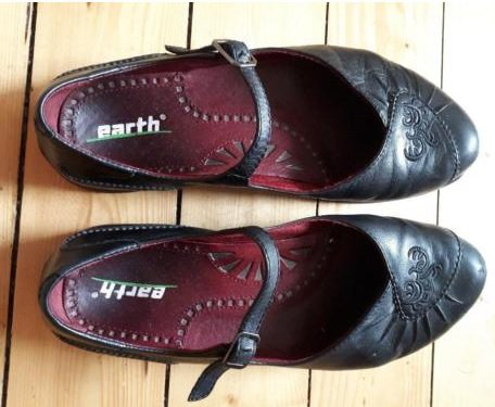 Schuhe Damen Schwarz Yoga Ballerinas Earth Gr38 Vintage PiuTOkXZ