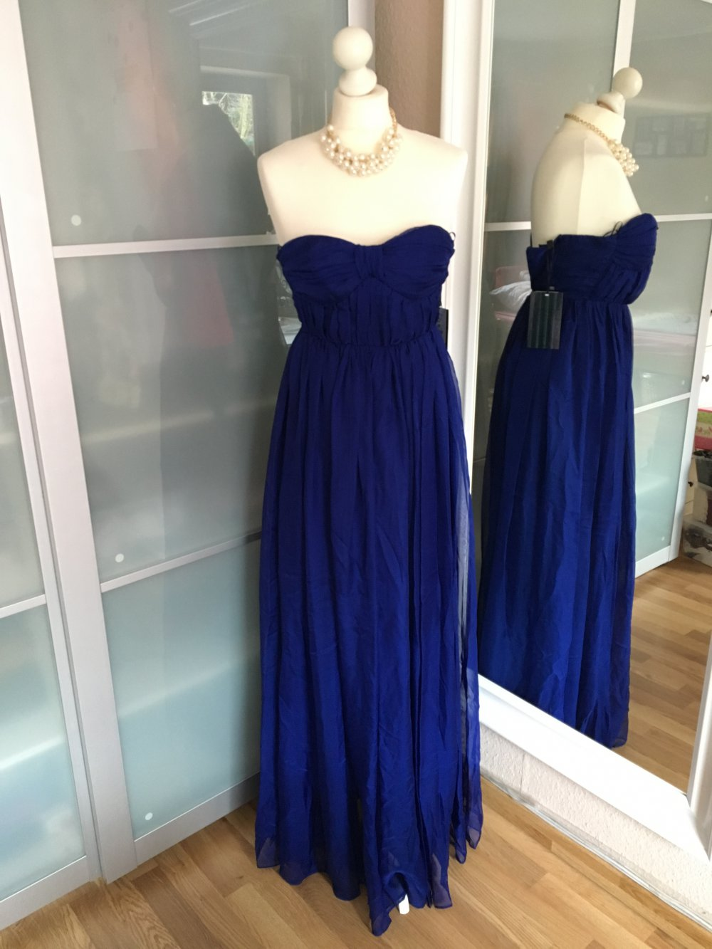 NEU Bershka Kleid Abendkleid Royalblau XS Abiballkleid Abschluss