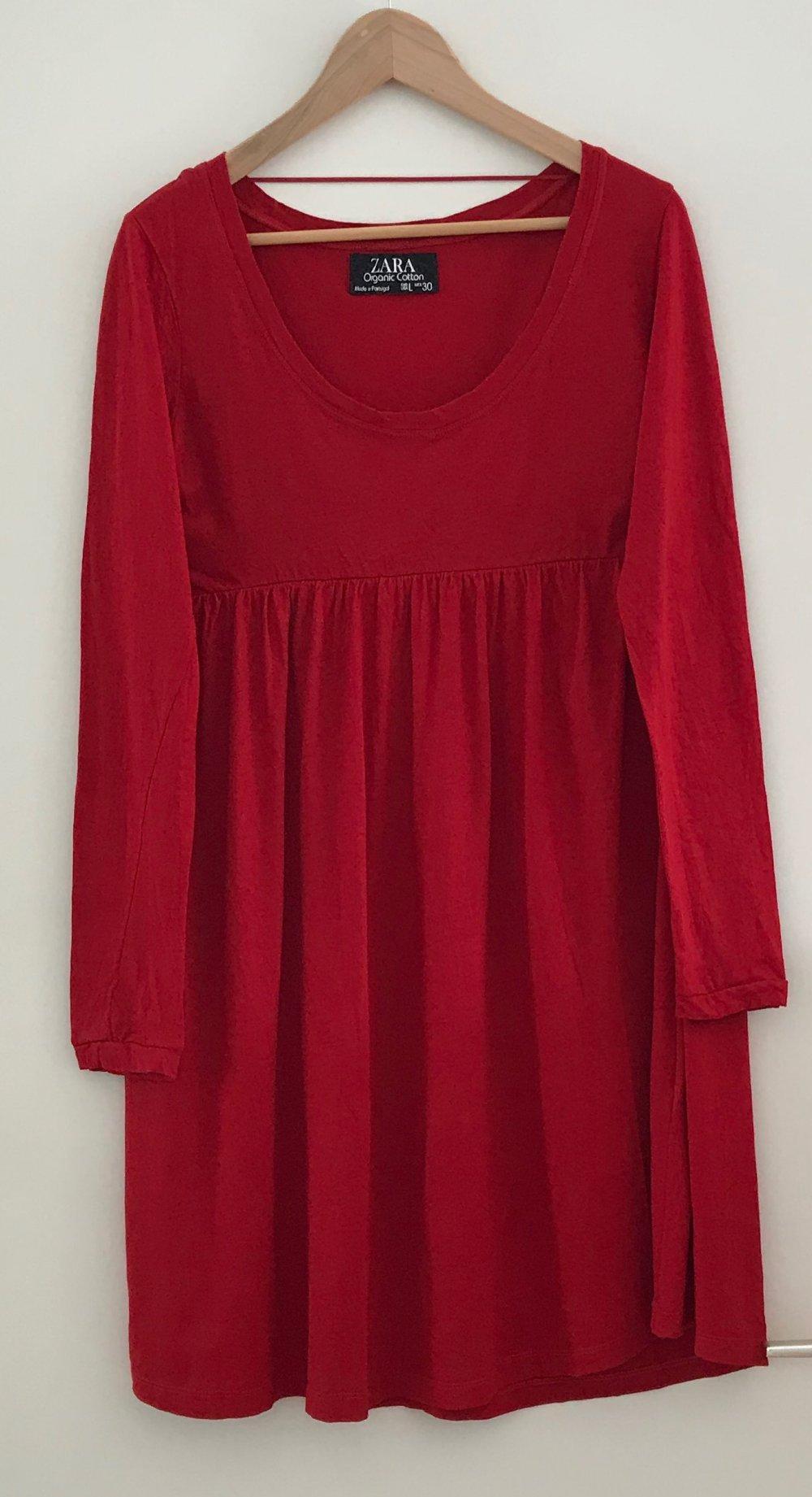 rotes kleid von zara in l