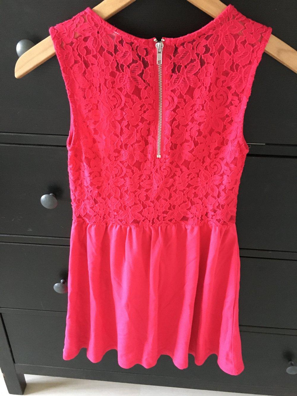 kleid festlich pink kurzes kleid sommer 36 h&m divided