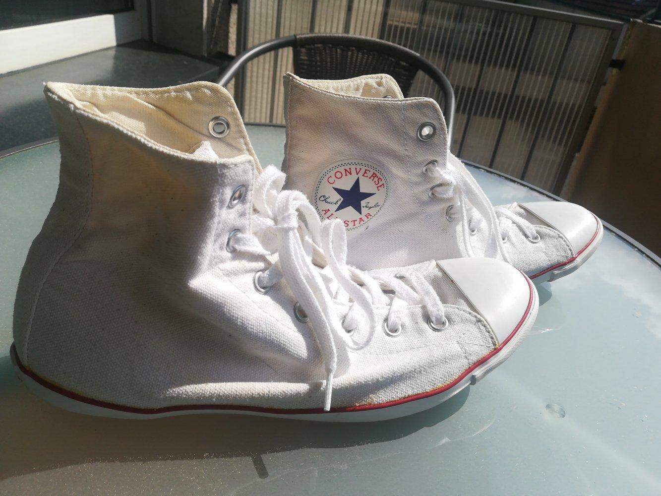 d82d30d7e21334 Converse All Star - Weiße Chucks Größe 40    Kleiderkorb.de