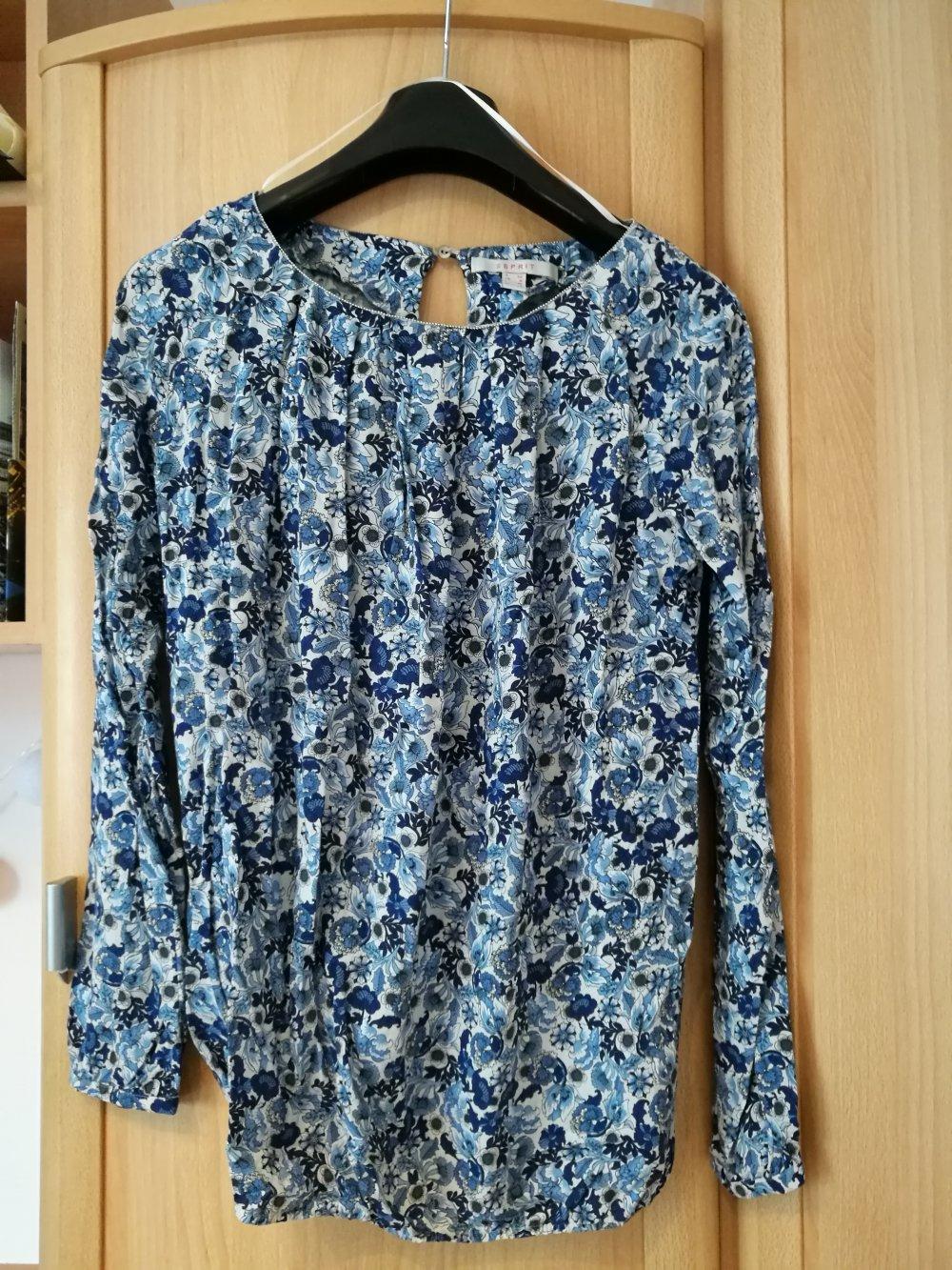 40aaeb575ff05 Mit Esprit Esprit Blumen Bluse Blumen Blaue Blaue Esprit Bluse Mit Blaue  FJKlcT1