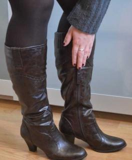 Lederstiefel echt! Esprit Winter Stiefel Reißverschluss kleiner Absatz - NEU 0e8f64dc75