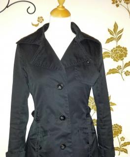 Anzüge & Anzugteile Blazer Schwarz Schnürung Größe 34 36 PüNktliches Timing Damenmode