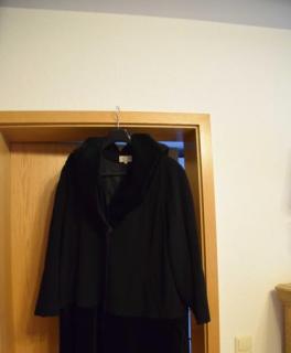 a897d0d51071f Oversized Mantel von Cartoon schwarz
