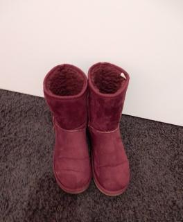 ugg classic mini stiefel winterstiefel damen boots violett lila gr 37 neu. Black Bedroom Furniture Sets. Home Design Ideas