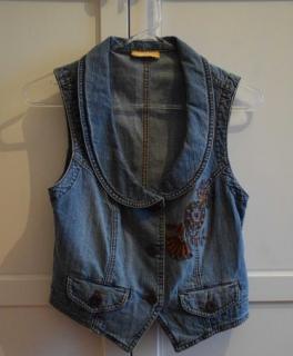 1fbffaf3329a Schal lila Muster Set von BIBA Jeans Weste und Hose