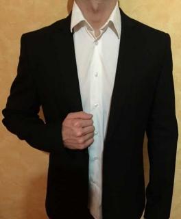 Zara Man Herren Sakko Anzug Anzugsjacke Jacket Größe 38 schwarz ... b18581ea41