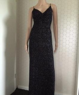 hisense  wunderschönes abendkleid schwarz mit glitzer gr s hi sense aus den usa