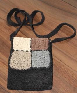 fab88b27e892d Kleine Häkeltasche grau braun beige schwarz Original Sagatini Henkel Tasche  ...