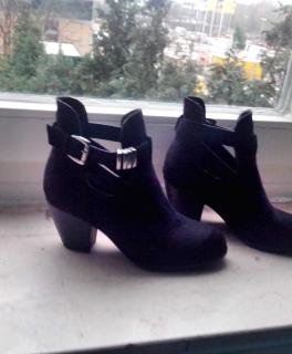 Ankle Boots Stiefeletten bequem und stylisch mit cut out b6c35c8c29
