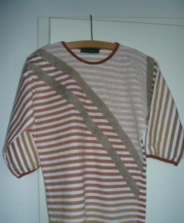 9def69d1b0 Damen-Shirt von Jean France mit Dreiviertelarm in braun-beige Gr. S