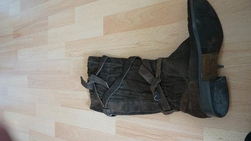 braune stiefel gr 40 neuwertig. Black Bedroom Furniture Sets. Home Design Ideas